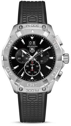 Tag Heuer Aquaracer Stainless Steel Chronograph with Rubber Strap, 43mm