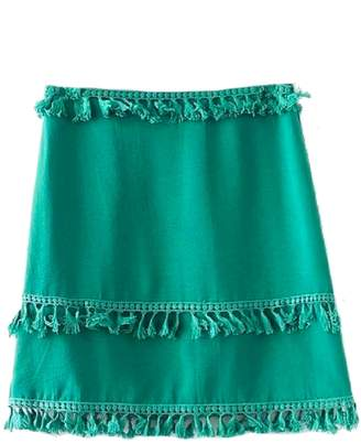 Goodnight Macaroon 'Catrina' Tassels A Line Mini Skirt (2 Colors)