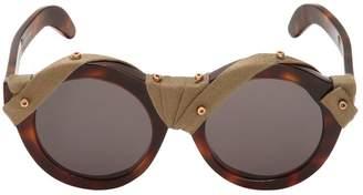 Wrapped Burnt Havana Sunglasses For Lvr