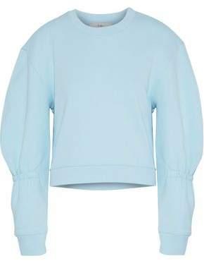 Tibi Gathered Cotton-fleece Sweatshirt