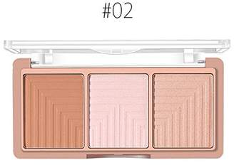 O.TWO.O 4 Colors Highlighter Bronzer Powder Contour and Blush Palette Facial Shading Powder Brighten Face Skin Base Foundation