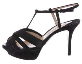 Nicholas Kirkwood Suede T-Strap Sandals