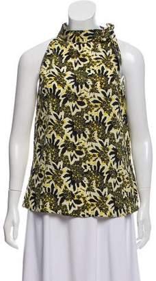 Etro Sleeveless Silk Floral Top