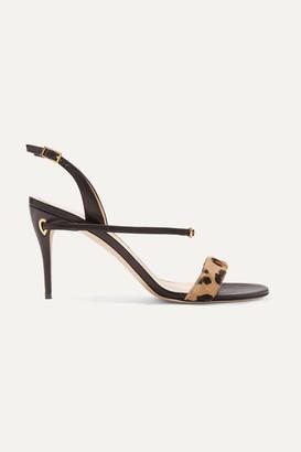 261b8ed8c59 Jennifer Chamandi Tommaso Leopard-print Calf Hair And Leather Slingback  Sandals - Leopard print