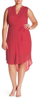 BB Dakota Sleeveless Hi-Lo Shirt Dress (Plus Size) $125 thestylecure.com
