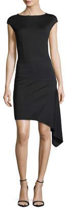 St. John Milano-Knit Bateau-Neck Dress
