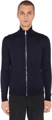 Prada Zip-Up Wool Knit Cardigan