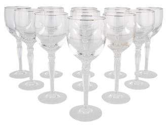 Waterford Set of 11 Carleton Platinum Wine Glasses