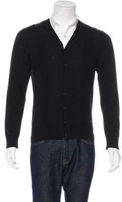 DSQUARED2 Wool Rib Knit Cardigan