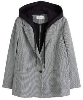 Violeta BY MANGO Detachable hood blazer