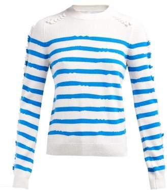 Barrie Fancy Coast Striped Cashmere Sweater - Womens - Blue White