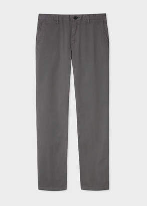 Paul Smith Men's Slim-Fit Grey Stretch Pima-Cotton Chinos