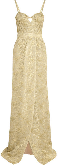 Burberry Metallic lace gown