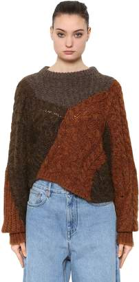 Etoile Isabel Marant PATCHWORK WOOL KNIT SWEATER