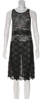 Missoni Chevron Print Metallic Dress