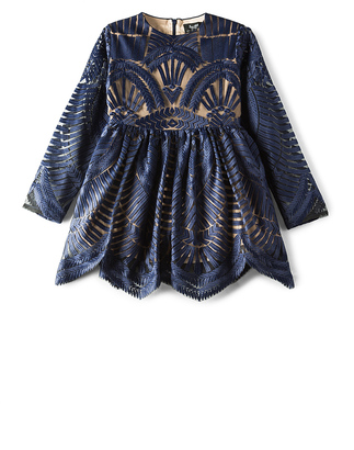 Bardot Junior Embroidered Mesh Dress $131 thestylecure.com
