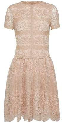 Valentino Metallic Cotton-Blend Corded Lace Mini Dress