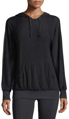Koral Activewear Chi Mesh Performance Hoodie, Black