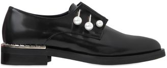 20mm Ferny Leather Piercing Shoes $720 thestylecure.com