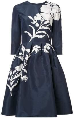 Carolina Herrera floral embellished dress