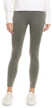 Yummie by Heather Thomson Washed Moto Seamless Skimmer Leggings