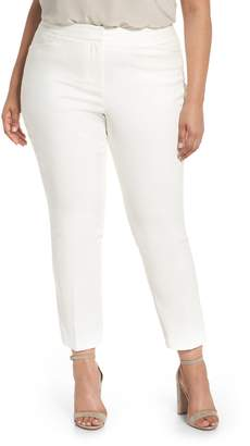 Vince Camuto High Rise Stretch Cotton Blend Ankle Pants