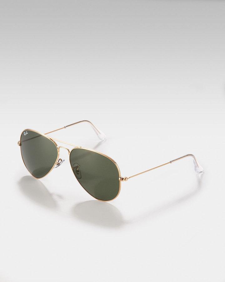 Ray Ban Teardrop Aviator Sunglasses, Gold