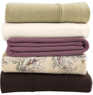 Organic Cotton Solid Jersey Knit Sheet Set
