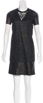 Reed Krakoff Lace Short Sleeve Dress