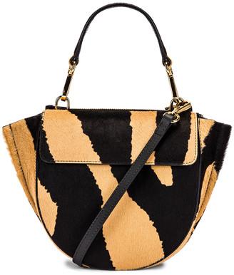 Wandler Mini Hortensia Leather Bag in Beige Zebra   FWRD