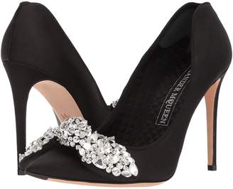 Alexander McQueen Bow Embroidered Heart Pump High Heels