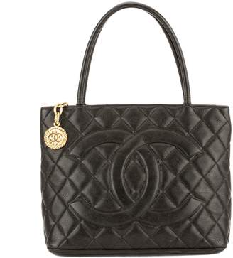 Chanel Black Quilted Caviar Leather Medallion Tote Bag (3829003)