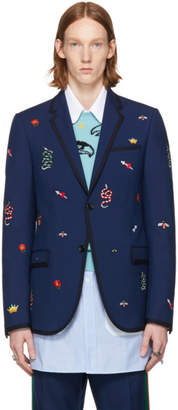 Gucci Blue Formal Monaco Blazer