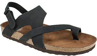 White Mountain Suede Leather Sandals - Huntsvil