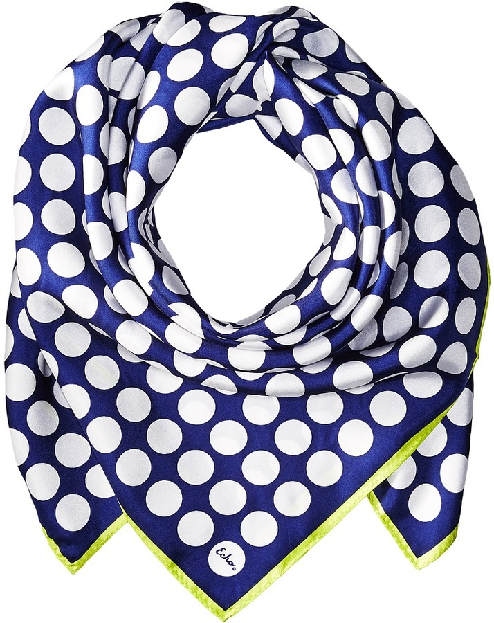 Echo Design - Polka Dot Silk Square Scarf Scarves