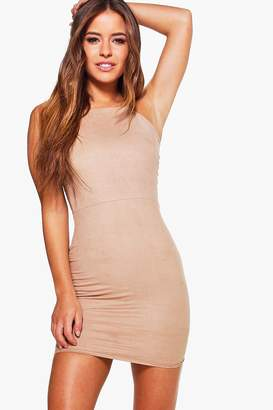 boohoo Petite Suedette Bodycon Dress