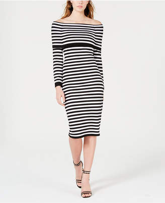 XOXO Juniors' Off-The-Shoulder Sweater Dress