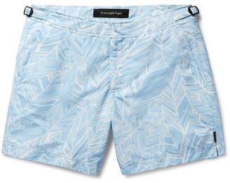 Ermenegildo Zegna Slim-Fit Mid-Length Printed Swim Shorts