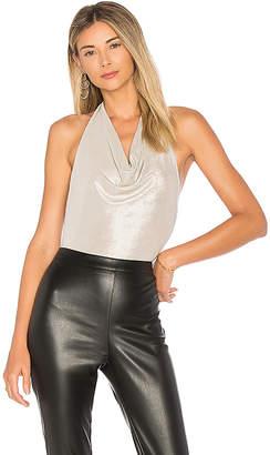 by the way. Scarlett Metallic Drape Bodysuit