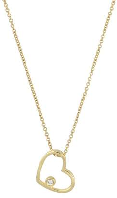 Bony Levy 18K Yellow Gold Diamond Open Heart Pendant Necklace