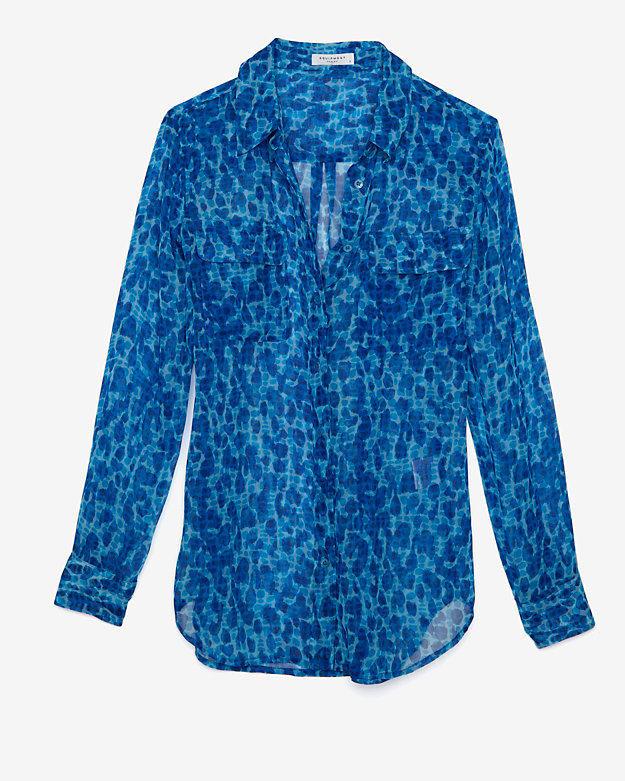 Exclusive Slim Signature Print Blouse