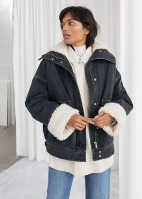 ca2bdac40c And other stories Denim Faux Shearling Jacket
