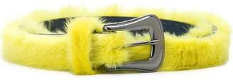 Missoni fur-trim buckle belt