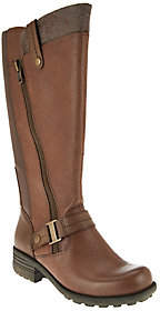 Earth Origins Leather Medium Calf Tall Boots -Portia