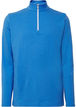 Dunhill Links Baker Street Stretch Cotton And Modal-Blend Half-Zip Sweater