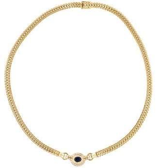 H.Stern 18K Sapphire & Diamond Pendant Necklace