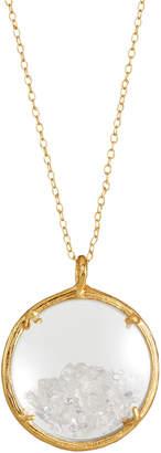 Catherine Weitzman Shaker Birthstone Pendant Necklace, April