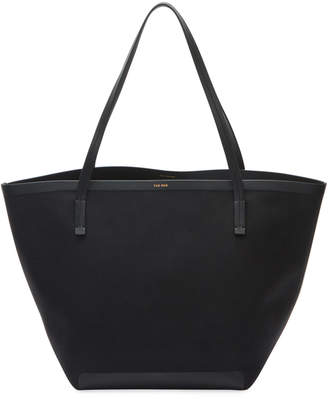 The Row Park Bonded Canvas Tote Bag, Black
