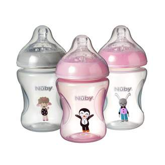 Nuby Natural Touch Decorated Bottles 270 ml