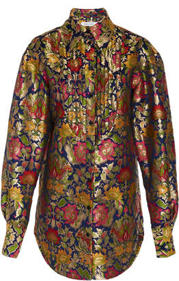 Prabal Gurung Sitapur Long Sleeve Floral Blouse